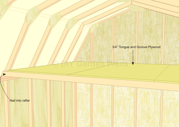 gambrel shed plans with loft loft