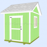8×10 Gable Shed Plans (005)