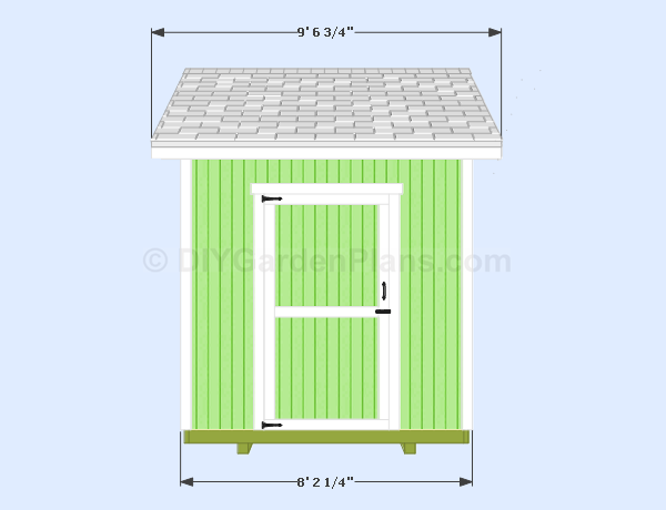 8 215 10 Gable Shed Plans 005 Diygardenplans