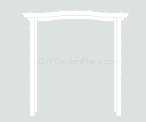 Simple Garden Arbor Design. This Arbor Is Built Using 2×4 And 1×2 Lumber.  See The Arbor Plans Below For Assembly.