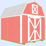 10'x10′ Gambrel Shed Plans with Loft