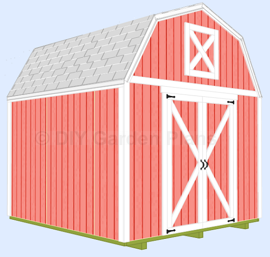 10'x10' Gambrel Shed Plans With Loft