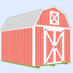 10'x12′ Gambrel Shed Plans with Loft