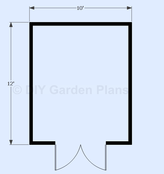 Sheds ottors free 10 x12 shed plans 8 by 16 shed for 10x12 bedroom layout