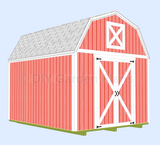 Diy free 10 x 12 shed plans plans free for Free barn plans with loft