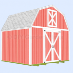 12'x10′ Gambrel Shed Plans with Loft