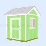 8×8 Gable Shed Plans