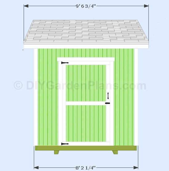 8x8 Gable Shed Plans Front View