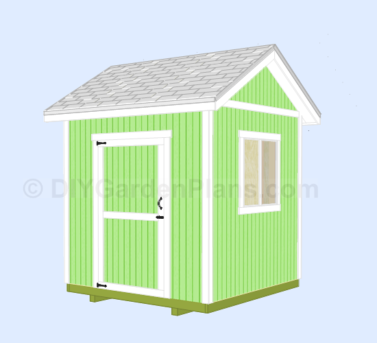Pdf 8x8 shed plans pdf plans free for Gable barn plans
