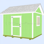 12×10 Gable Shed Plans