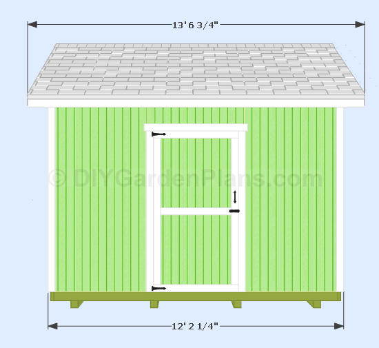 12x10 gable shed front view