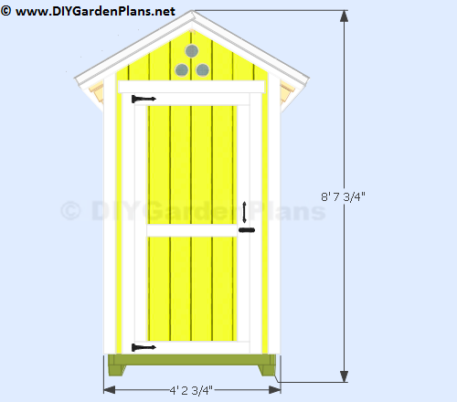 4-4x4-small-garden-shed-plans-front-view