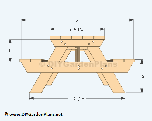 picnic table plans material cut list disc qty size table top 2 6 5 6 ...