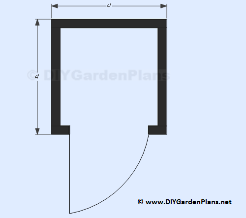 6-4x4-small-garden-shed-plans-floor-view