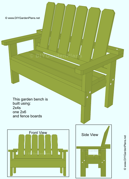Build-it-Yourself Garden Bench