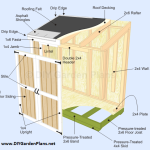 4×8 Lean To Shed Plans