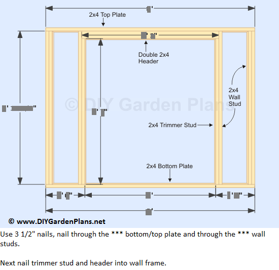 11-lean-to-shed-plans-front-wall-frame