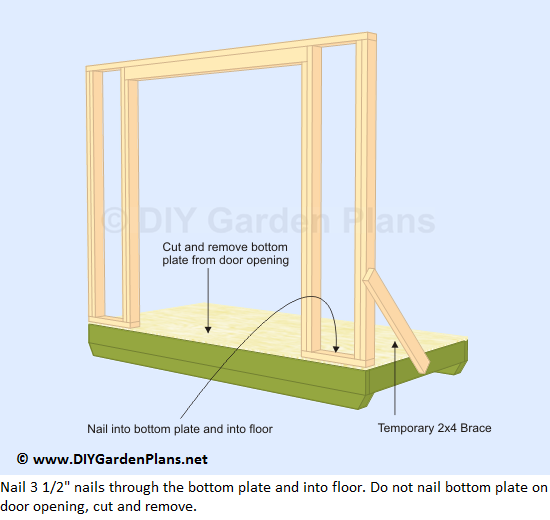 12-lean-to-shed-plans-front-wall-frame-up