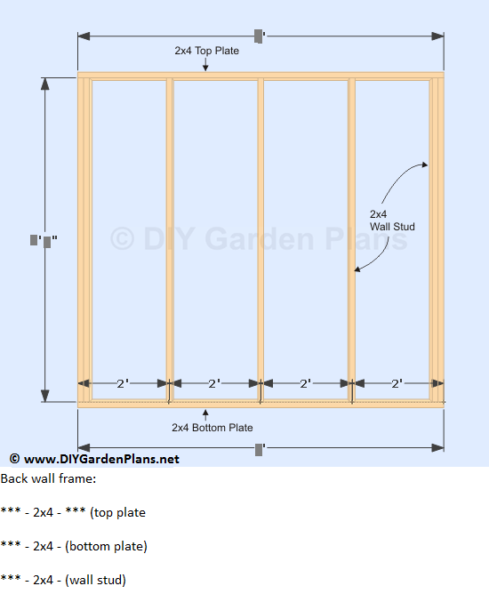 13-lean-to-shed-plans-back-wall-frame