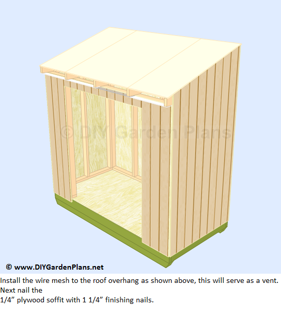 30-lean-to-shed-plans-soffit-installed