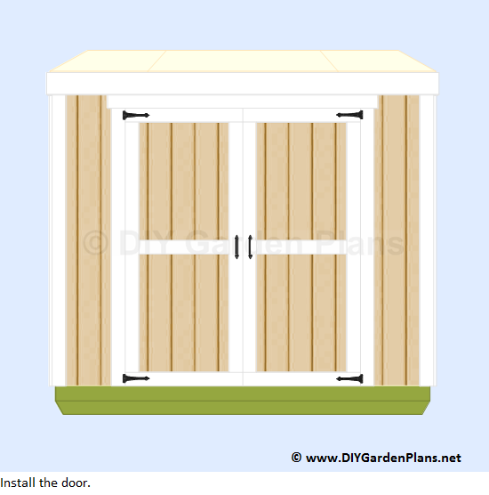 40-lean-to-shed-plans-door-installed
