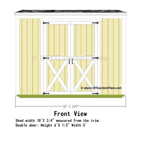 10x8-saltbox-shed-plans-front-view