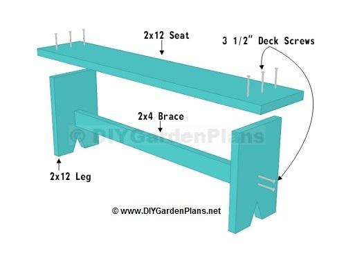 Easy Plans For A Board Garden Bench Diygardenplans