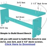 Easy Plans For A Board Garden Bench