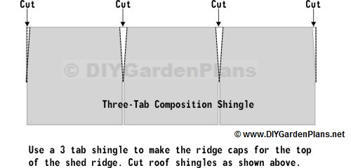 how to cut roof cap shingles