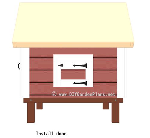 51-chicken-coop-plans-chicken-door-installed