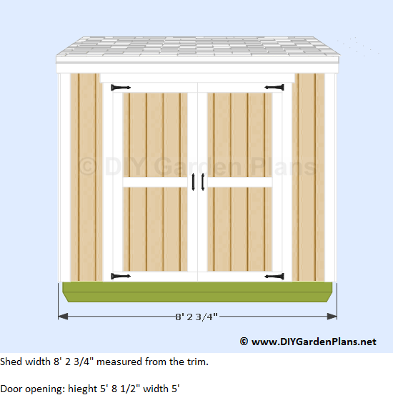 1-4x8-lean-to-shed-plans-front-view