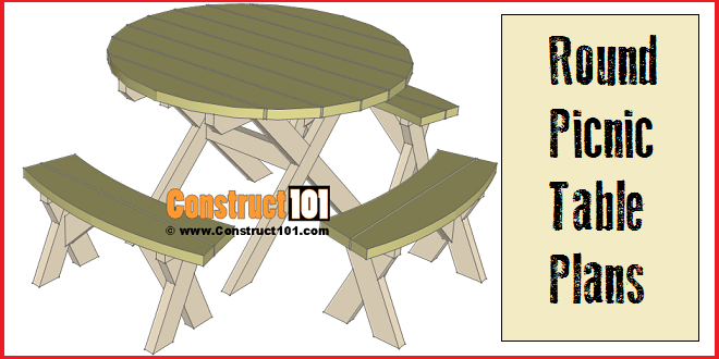 How To Build A Round Picnic Table - Round picnic table with benches
