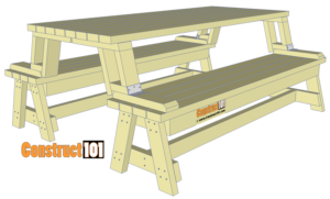 Stupendous Folding Picnic Table And Bench Plans Diygardenplans Ibusinesslaw Wood Chair Design Ideas Ibusinesslaworg