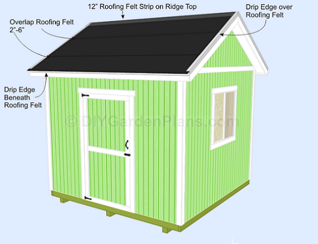 Gable Shed Plans Installing Roof Shingles – How To Install Roofing Shingles