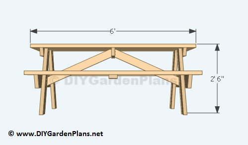 3 Picnic Table Plans Front View