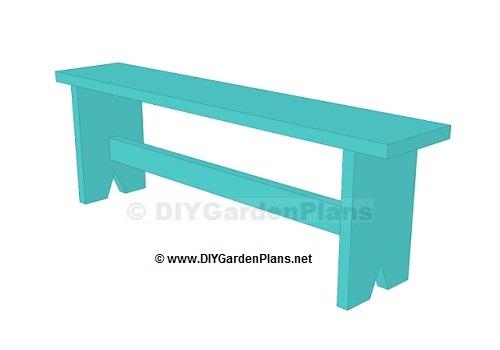 Easy Plans For A Board Garden Bench – DIYGardenPlans