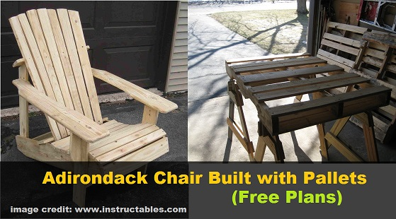 DIY Adirondack Chair Built with Pallets (free plans ...